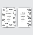 hand drawn sketch wedding butterfly vector image vector image