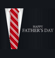 happy fathers day greeting card a suit with vector image