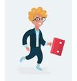happy schoolboy with a vector image vector image