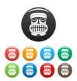 hawaii wood idol icons set color vector image vector image