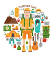 Hiking and Camping Gear Collection vector image vector image