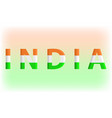 india lettering typographic design vector image vector image