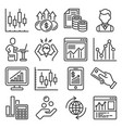 investing business and finance icons set vector image vector image