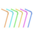 Isolated cocktail straws on white background vector image