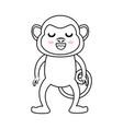 kawaii monkey icon vector image