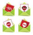 letter envelope with sale card vector image