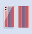 mobile phone cover design template smartphone vector image