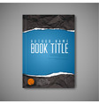 modern abstract blue book cover template vector image vector image