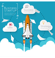 Modern infographic with Space Shuttle vector image vector image