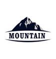 mountain concept abstract icon logo vector image vector image