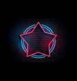 neon star empty frame background vector image