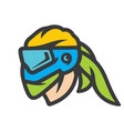 paintball mask sign vector image vector image