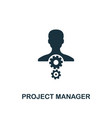 project manager icon creative element design from vector image vector image