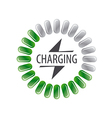 Round logo battery charging vector image vector image