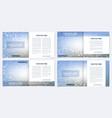 scientific templates square brochure magazine vector image vector image
