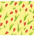 Seamless background with colored tulips vector image vector image