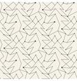 Seamless christmas tree line pattern tile vector image