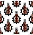 Seamless pattern of wheat with gear wheels vector image vector image