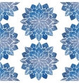 Seamless pattern with hand-drawn watercolor blue vector image vector image