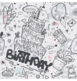 seamless texture birthday with a cake vector image vector image