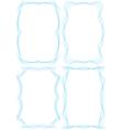 Set of frames for certification vector image vector image