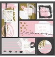 Set of universal cards Hand Drawn textures vector image vector image