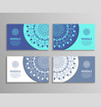 sets of mandala business cards vector image vector image