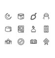 simple set symbols islam religion contains such vector image