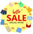 summer sale big discounts flyer template hand vector image vector image