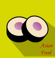 sushi roll concept of snack susi exotic nutrition vector image vector image