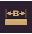 The width icon Measurement and ruler symbol Flat vector image