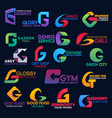trade commerce creative corporate identity g icons vector image vector image