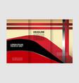 tri-fold brochure template design with orange colo vector image