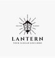 vintage shinning lantern logo icon template vector image vector image