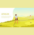 webactive healthy outdoors lifestyle with golfer vector image
