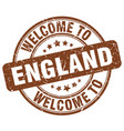 welcome to england brown round vintage stamp vector image vector image