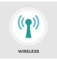 Wireless flat icon vector image vector image