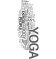 yoga an exercise for everyone text word cloud vector image vector image