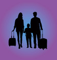 traveling family at the airport vector image