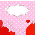 etro background with poppies vector image