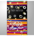 New Year Party invitation - bright laces on black vector image