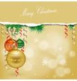 Christmas background with balls and Christmas vector image