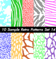 10 Retro Patterns Textures Set 14 vector image vector image