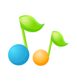A pair of musical symbol vector image vector image