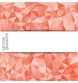 Abstract triangle background with a place vector image vector image
