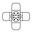 adhesive bandage icon image vector image vector image