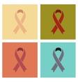 assembly flat icons gays HIV ribbon vector image vector image