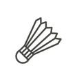 badminton ball icon line badminton symbol vector image vector image