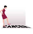 Beat cancer vector image vector image
