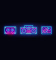 big collection neon sing retro music neon symbols vector image vector image